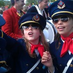 Kule korpsmusikanter på Prinsessens plass